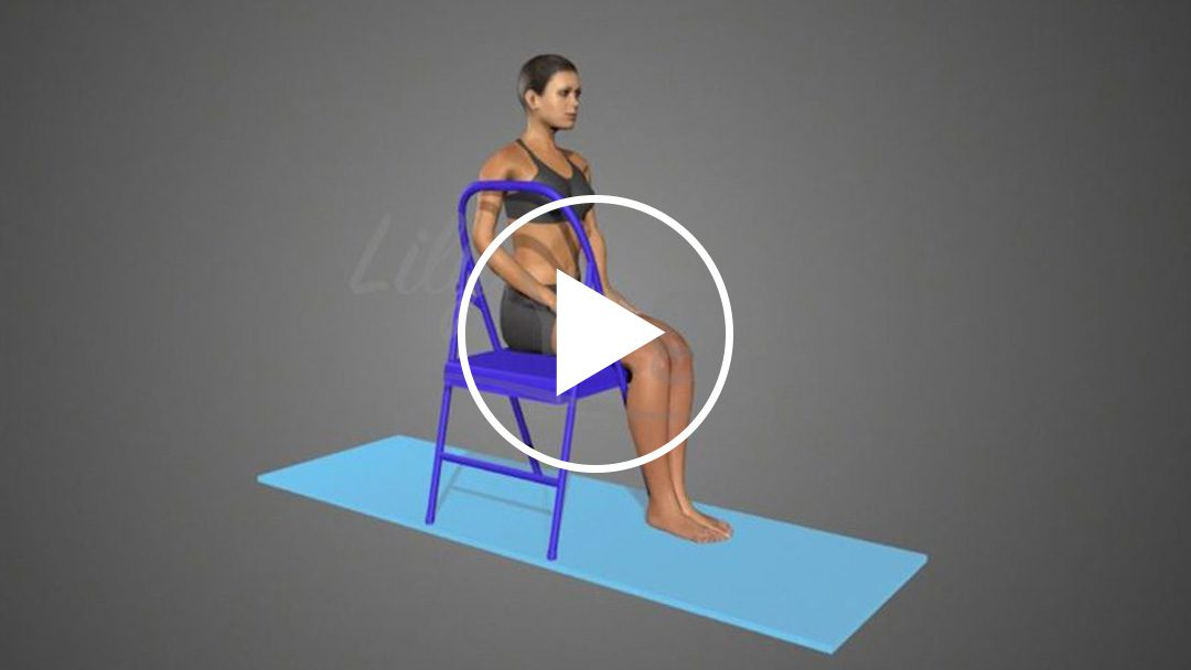Bharadvajasana (variation 2) On Chair (animation)