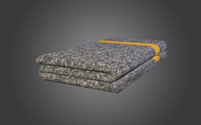 Blanket Orange 3 folds