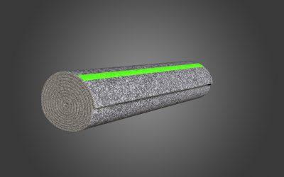 Rolled Blankets (Green stripe)