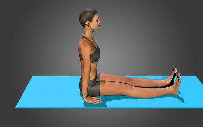 Dandasana (variation 2) feet apart