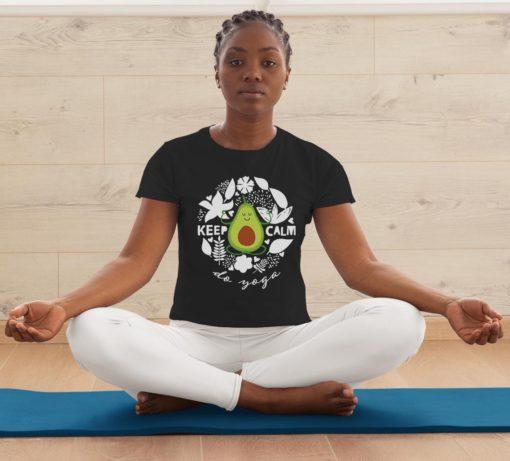 Funny Avocado Yoga Pose Keep Calm do yoga
