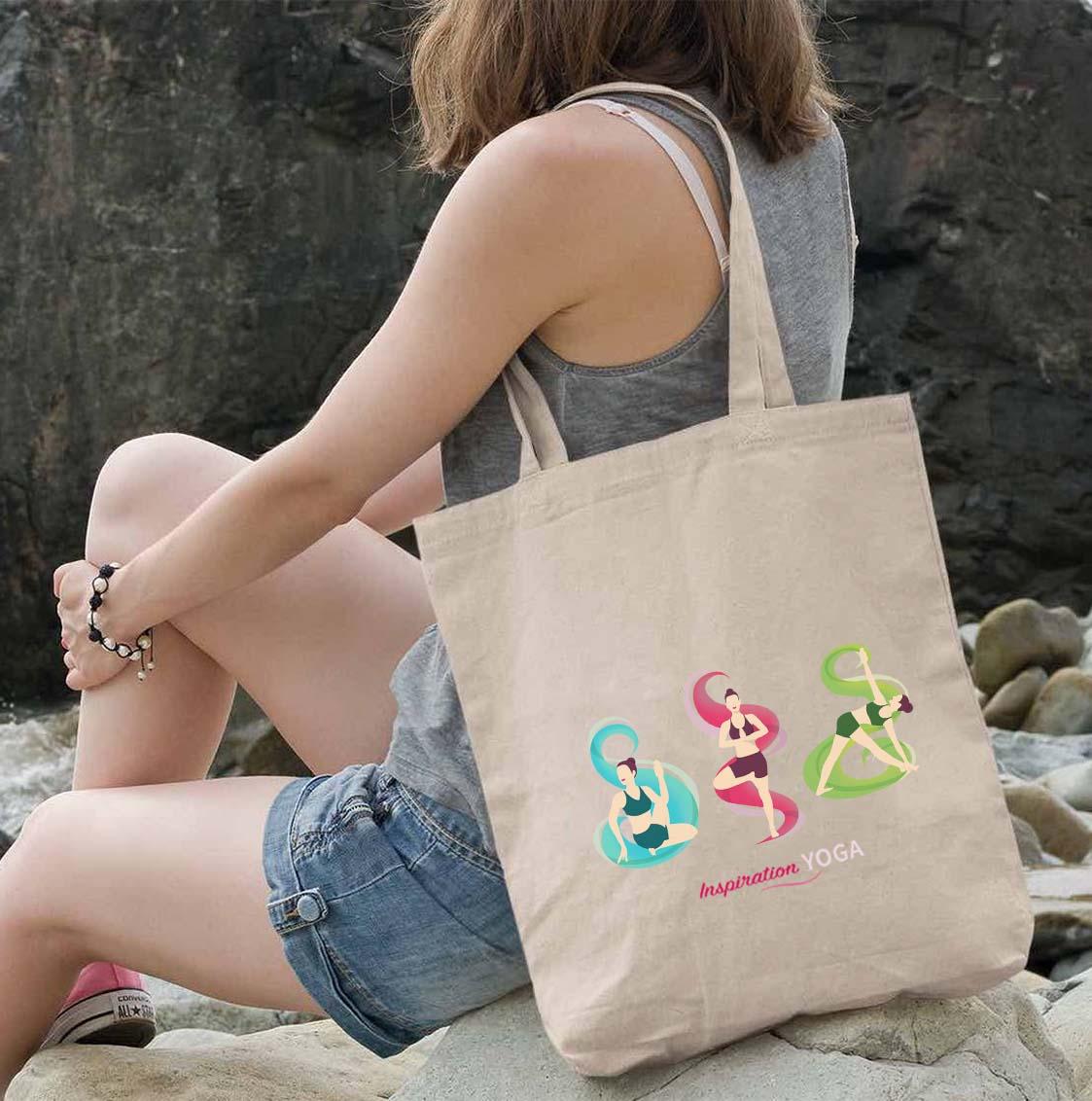 Yoga Pose Eco Tote Bag